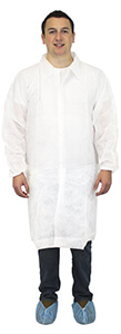 Man wearing white SMS lab coat.